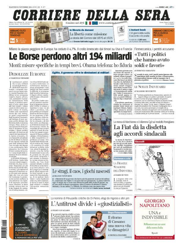 Prima-pagina-Corriere-23_11_11