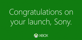 Twitter   Xbox  Congrats  Playstation.