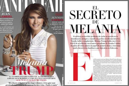 VanityFair Mexico dedica copertina a Melania Trump